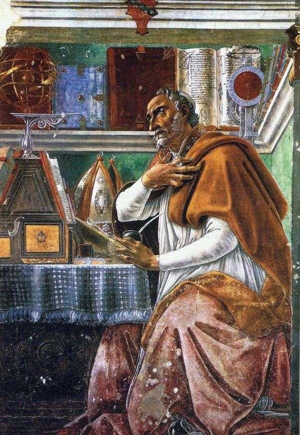 聖オーガスティン聖人   Sandro Botticelli