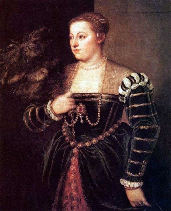 Titian Laviniaの娘の肖像   Titian Vecellio