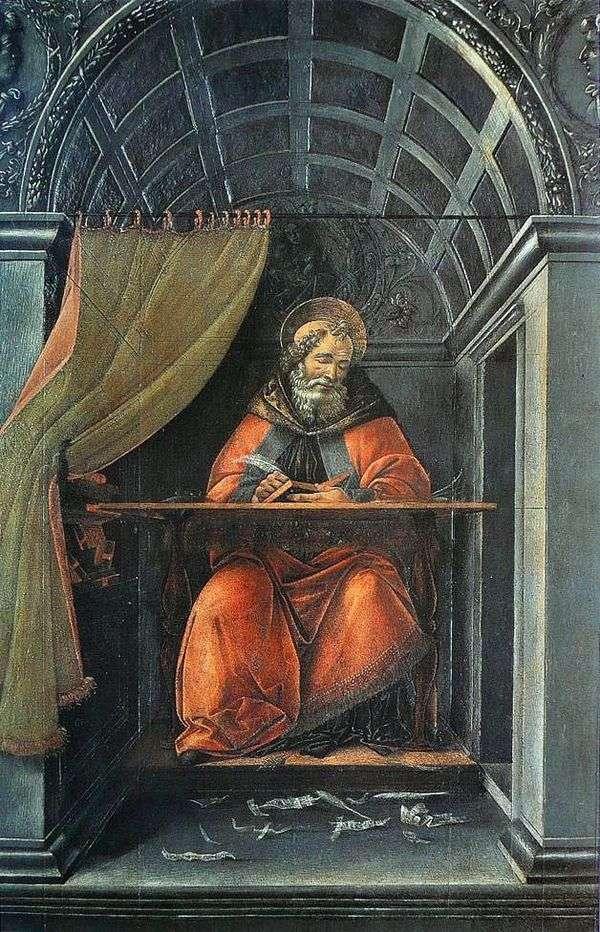 セントオーガスティン、彼のセルに書いて   Sandro Botticelli