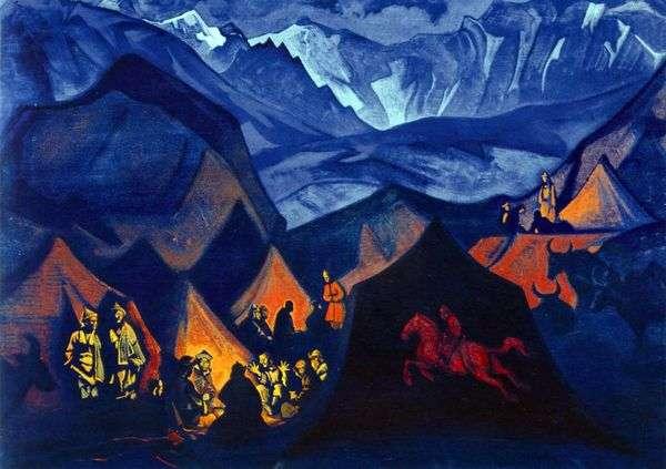砂漠のささやき   Nicholas Roerich