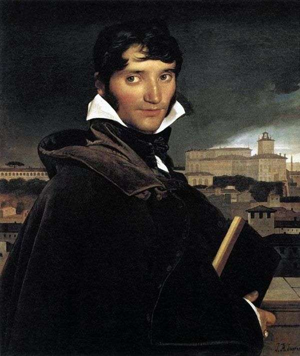 アーティストFrancois Marius Granetの肖像   Jean Auguste Dominique Ingres