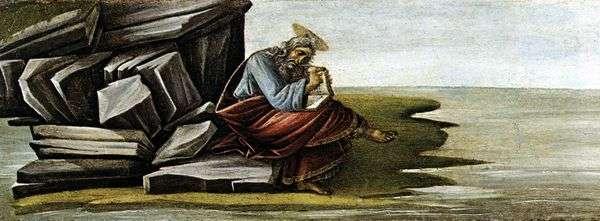 聖ヨハネ、神学者、パトモスの黙示録   Sandro Botticelliを書く