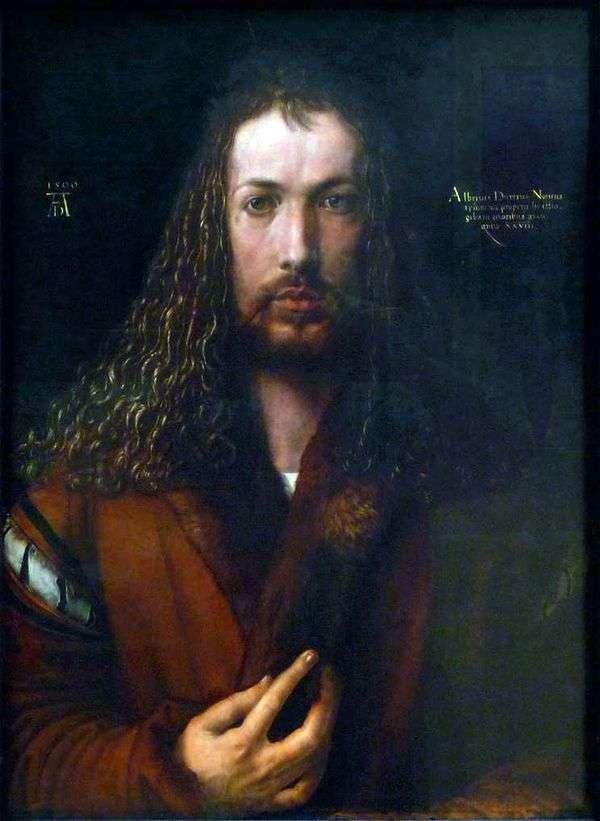 自画像(1500年)   アルブレヒトデューラー