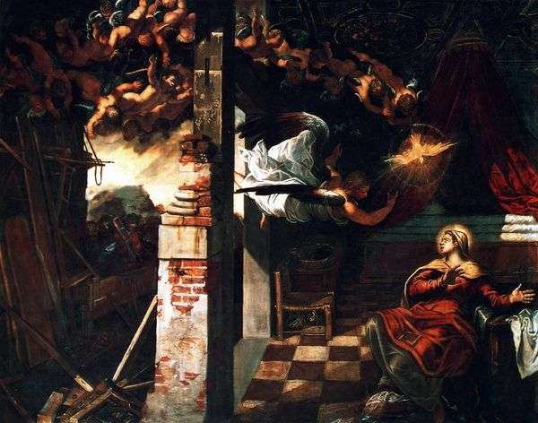 受胎告知   Jacopo Tintoretto