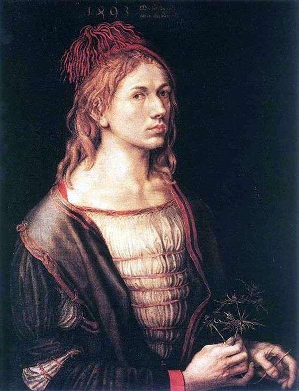 1493年のセルフポートレート   Albrecht Durer