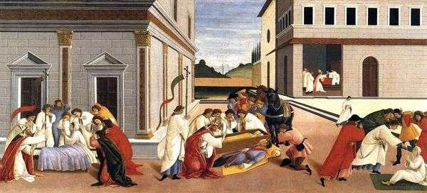 聖ジノヴィの3つの奇跡   サンドロ・ボッティチェリ