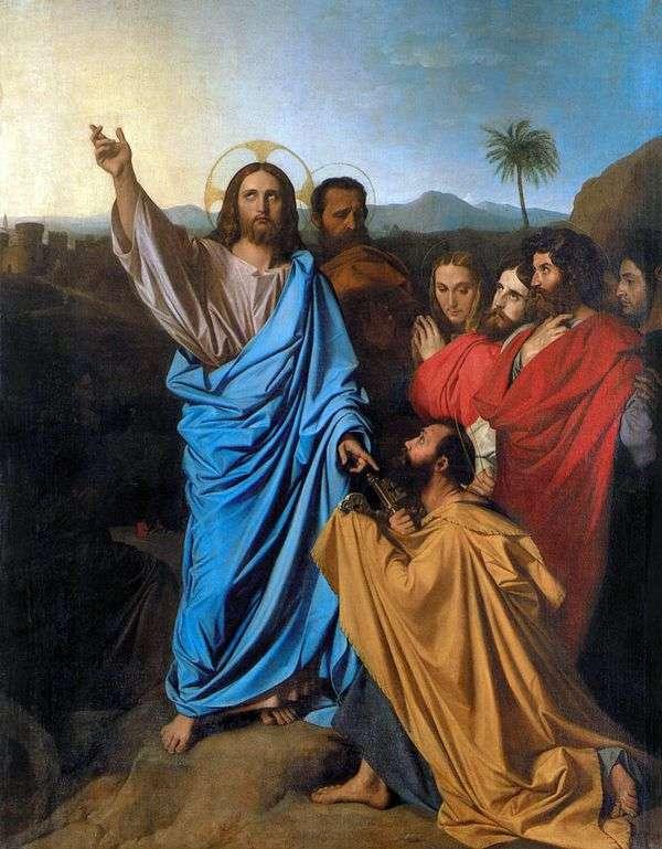 キリストがsvを伝えています。ピーター天国への鍵   Jean Auguste Dominique Ingres