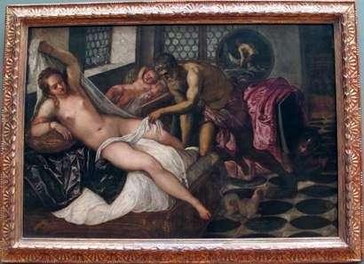 金星、バルカンと火星   Jacopo Tintoretto