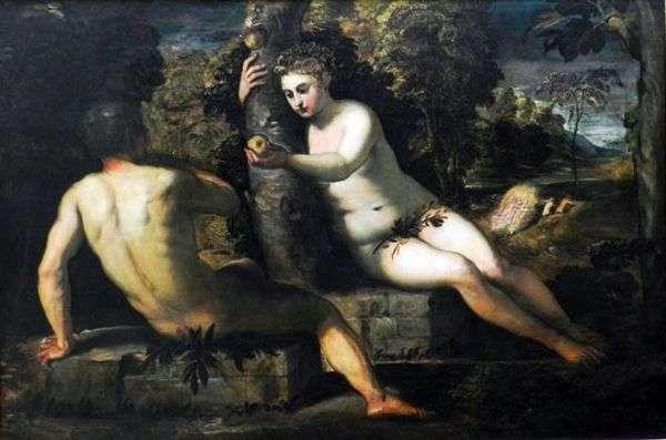 アダムの誘惑   Jacopo Tintoretto