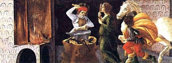 聖エリギヤの奇跡   Sandro Botticelli
