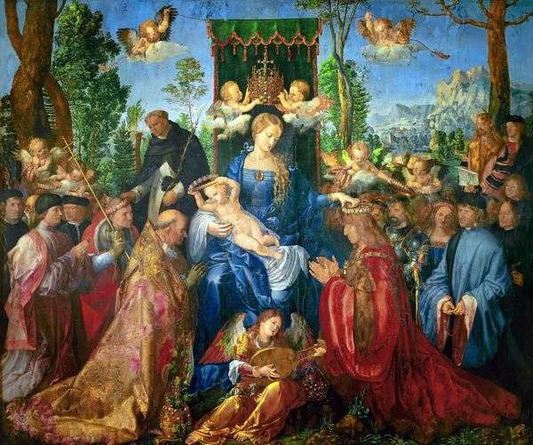 ロザリオの祭壇の饗宴   Albrecht Durer