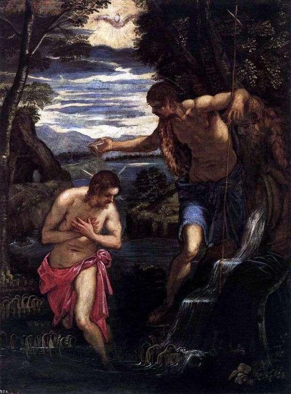 キリストの洗礼   ヤコポ・ティントレット