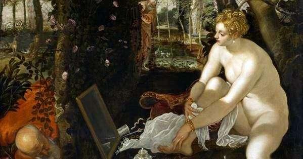 スザンナの入浴(スザンナと長老)   Jacopo Tintoretto