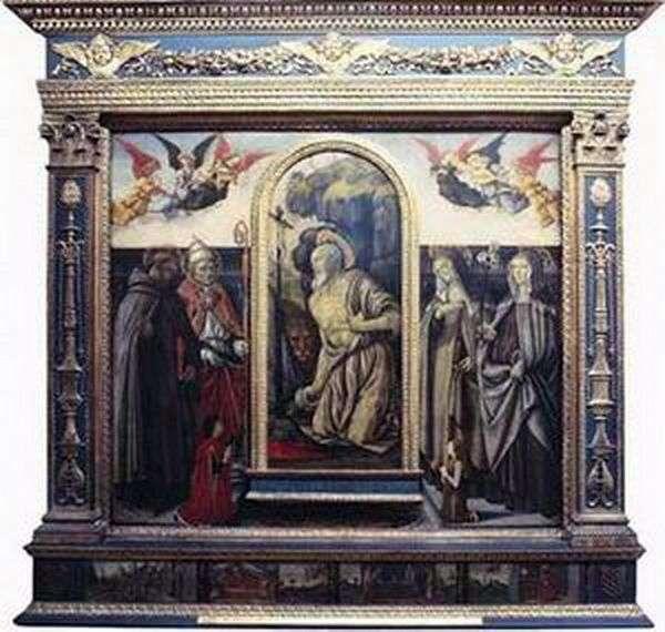 悔い改めsv。聖人と寄付者とのジェローム   Francesco Bottichini