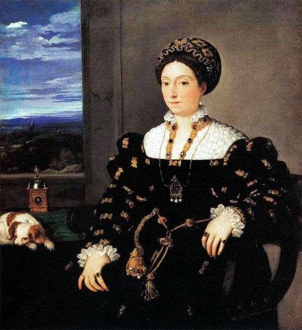 ウルビーノ公爵夫人Eleonora Gonzaga   Titian Vecellioの肖像