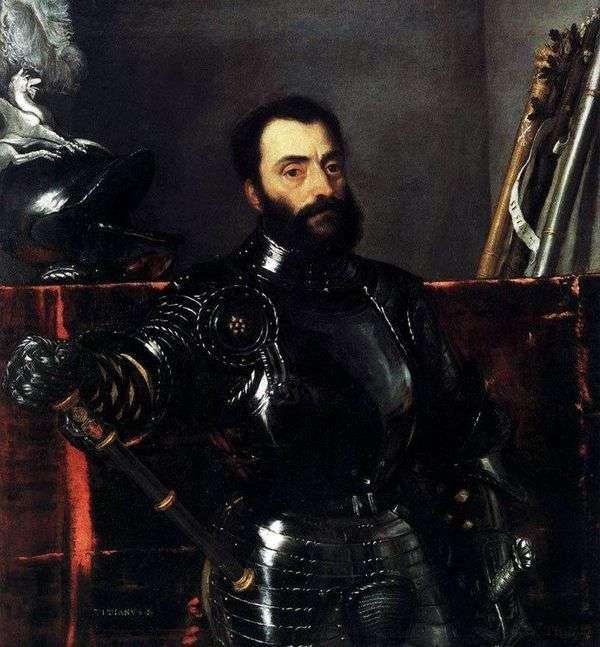 フランチェスコ・マリア・デッラ・ロヴェーレの肖像   Titian Vecellio