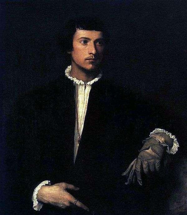 破れた手袋   Titian Vechelioを持つ若い男の肖像