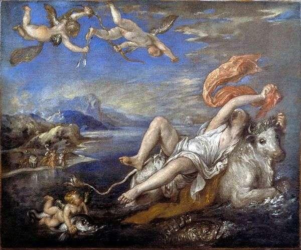 ヨーロッパの拉致   Titian Vecellio