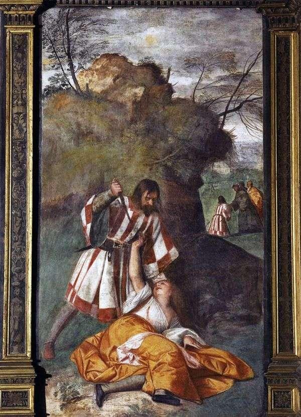 嫉妬深い夫(嫉妬深い夫の奇跡)   Titian Vecellio
