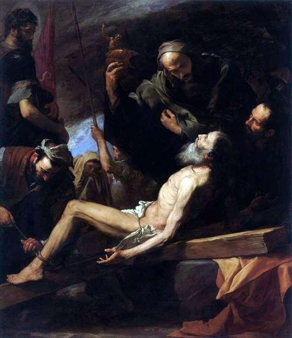 使徒アンドリューの殉教   フセペ・デ・リベーラ