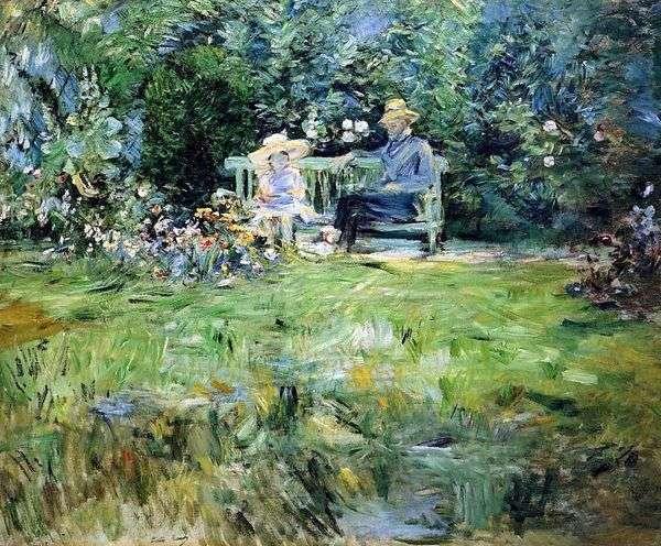 ガーデンレッスン   Bertha Morisot