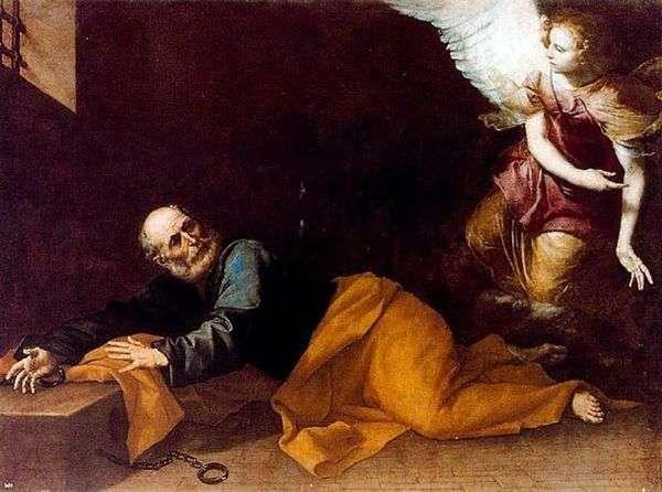 使徒ペテロの刑務所からの解放   Jusepe de Ribera