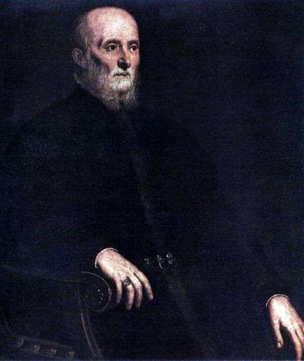 Alvise Cornaro   Jacopo Tintorettoの肖像