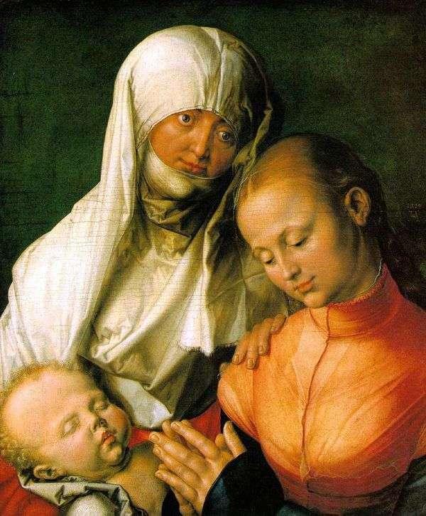 聖母マリアと赤ん坊と聖アン   Albrecht Durer