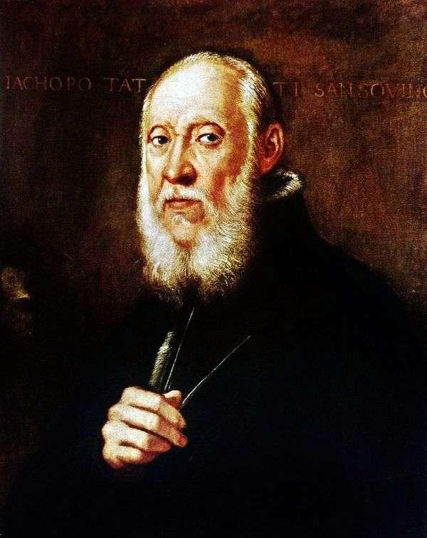 Jacopo Sansovino   Jacopo Tintorettoの肖像