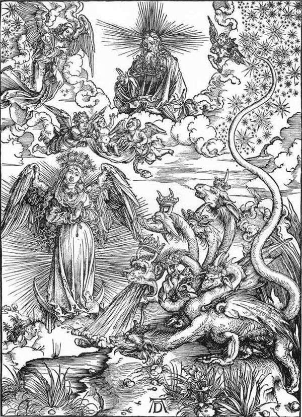 女太陽と七頭龍   アルブレヒト・デューラー