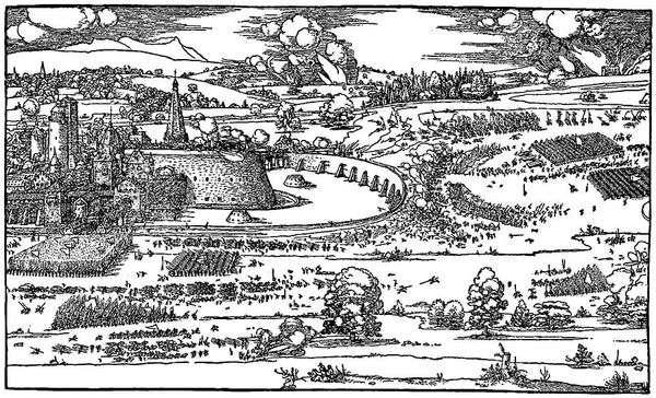 論文「コンパスと定規を使った測定の手引き」   AlbrechtDürer