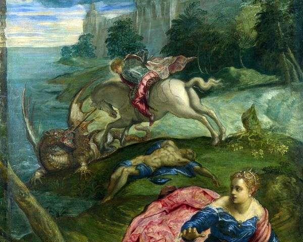 セントジョージ、王女と龍   Jacopo Tintoretto