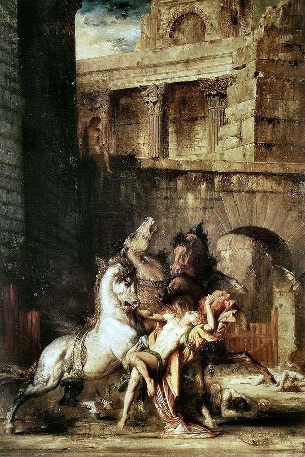 彼の馬を食べているDiomedes   Gustave Moreau