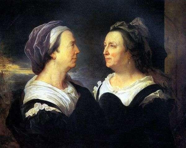 アーティストの母親、マダム・リゴ、2つの肖像画   ヒヤシンス・リゴ
