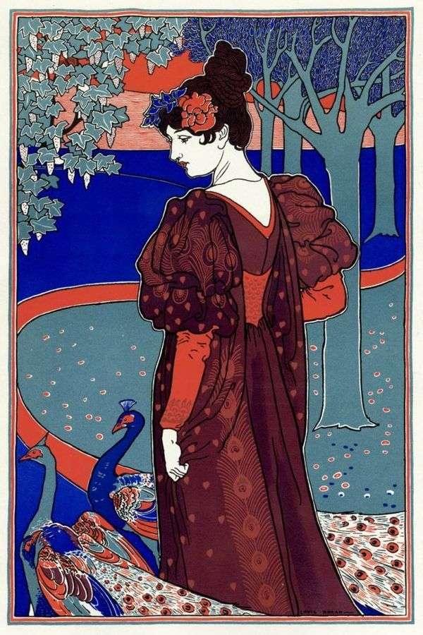 孔雀を持つ女性   ルイ・ジョン・リード