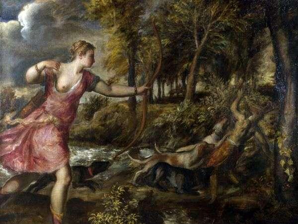 アクテオンの死   Titian Vecellio