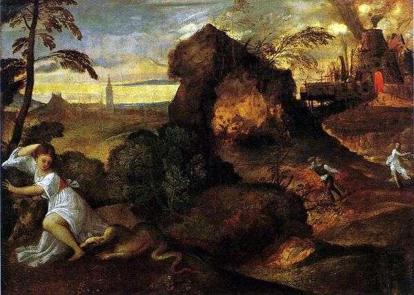 死のユーリディス。D   Titian Vecellio