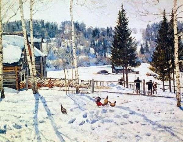 冬の終わり 正午 リガチェヴォ   Yuon Konstantin