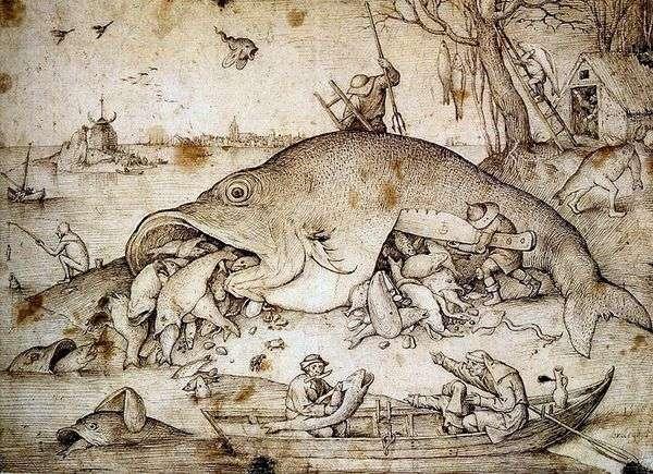 大きな魚は小さく食べる   Peter Bruegel