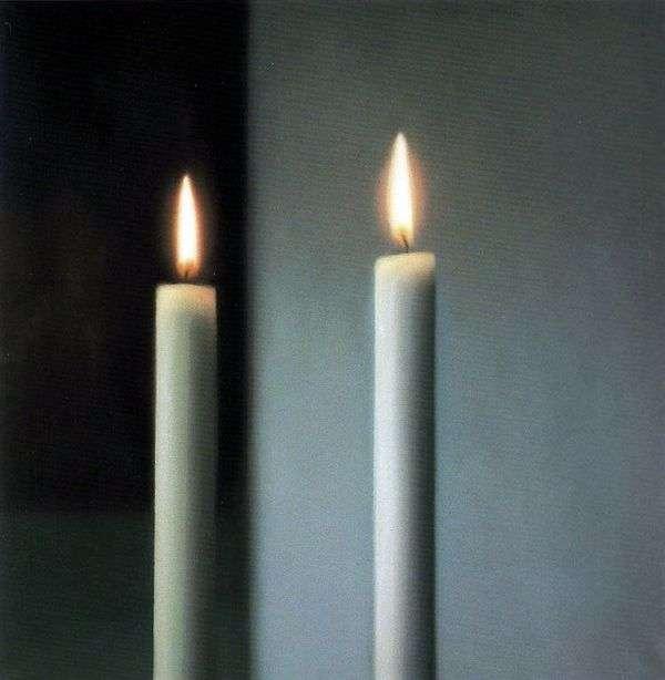二つのキャンドル   Gerhard Richter