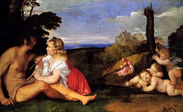 人の3つの年齢(3つの年齢のアレゴリー)   Titian Vecellio