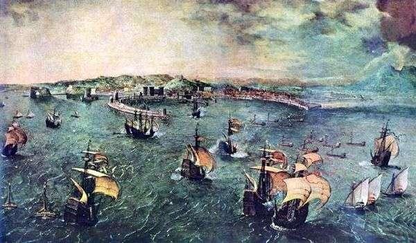 ナポリ湾での海戦   Peter Bruegel