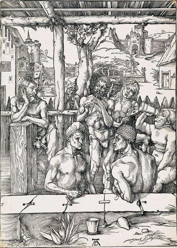 メンズバス 彫刻   アルブレヒトデューラー