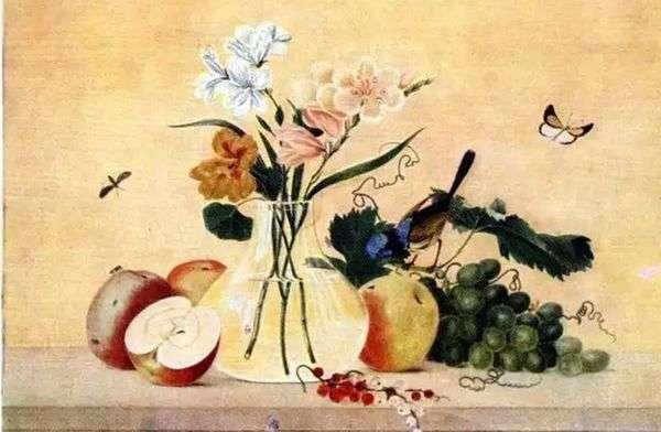 花、フルーツ、鳥   Fedor Tolstoy