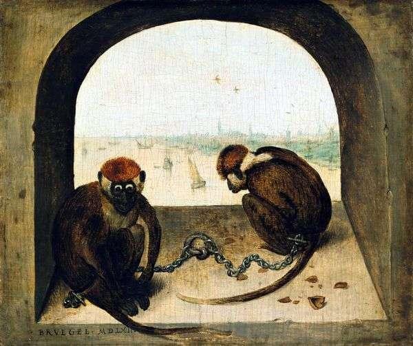 二匹のサル   Peter Bruegel