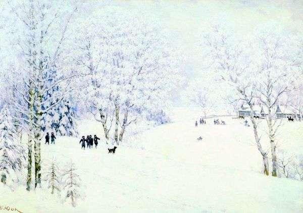 ロシアの冬 Ligachevo   コンスタンティン・ユオン