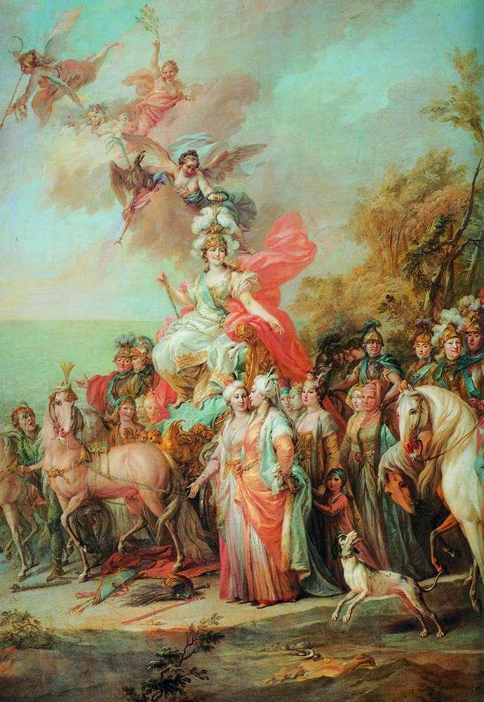トルコ人とタタール人以上のキャサリン2世の勝利の寓意   Stefano Torelli
