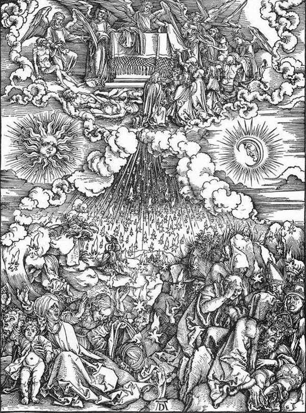 5番目と6番目のアザラシの開封   Albrecht Durer