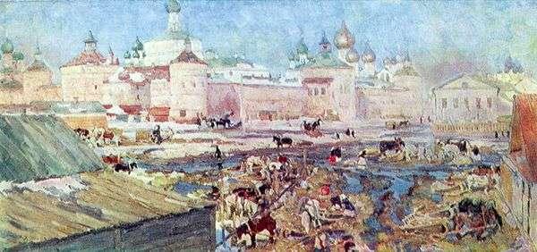 青い一日。Rostov Veliky   コンスタンティン・ユオン