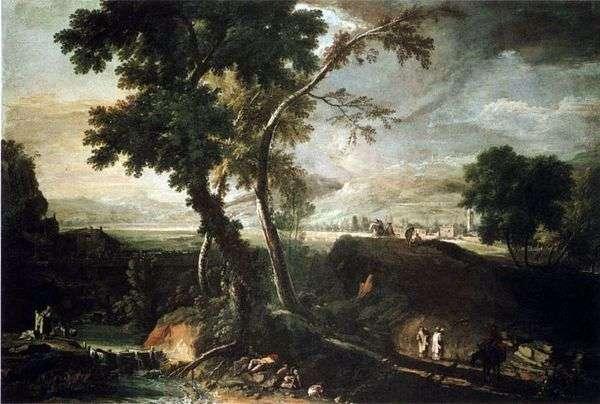 小川のある風景   Marco Ricci